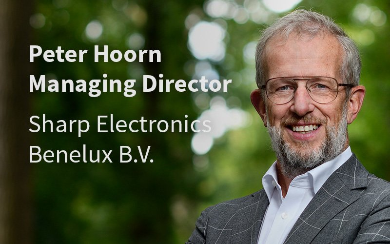 Peter Hoorn Managing Director Sharp Elektronics Benelux BV